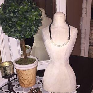 Genuine leather Necklace and Bracelet set
